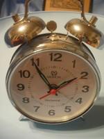 N7 Merion működő asztali csörgő óra piros mutatóval is szép állapotban