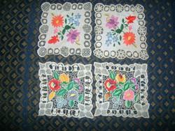 Riselt, hímzett kisterítő - négy darab