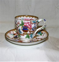 Antik XIX. sz.kávéscsésze aljával pattern sz. 2067