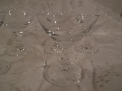 Üvegpohár - békebeli - likőrös pohárkák - édes - bájos - 2 centiliter!!!! készlet 6 db tökéletes