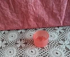 Kicsi piros üveg teamécsestartó karácsonyi dekoráció