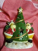 Karácsonyi kerámia mécsestartó