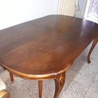 Warrings chippendél barok Óriási kinyitható étkező vagy tárgyaló asztal