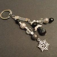 Fekete angyal Kulcstartó - Mikulás ajándék