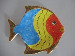 Retro,vintage halas,hal alakú tál,kínáló,asztalközép
