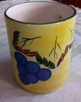Könnyű kerámia csésze, szőlővel díszítve, 0,5 literes