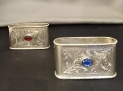 Ezüst szalvétagyűrű pár