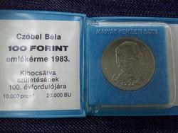 Czóbel Béla 100 Forint 1983 eredeti banki csomagolásban