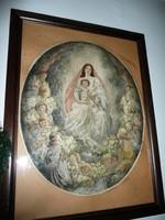 Nagyon ritka, nagy  Prihoda István (Azary) (1891, 1956, Kolozsvár, Bp) akvarellel festett rézkarc
