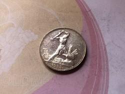 1925 ezüst 50 kopek ,gyönyörű darab 10 gramm