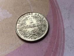 """1915""""D"""" ezüst 1 márka 5,5 gramm 0,900 szép darab,ritkább"""