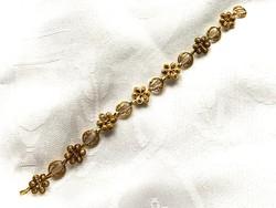 Arany fazonú aranyozott réz karkötő, nagyon ígényes munka