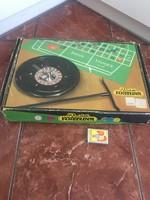 Régi NDK szövetes tábla roulette rulett társasjáték dobozában