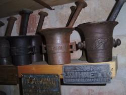 Ritka Eredeti Hadi mozsár 20 db os gyűjtemény vasmozsár öntöttvas