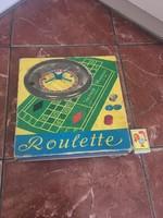 Régi roulette rulett társasjáték dobozában