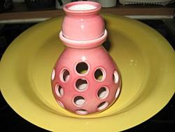 Rózsaszín shabby mécsestartó, aroma párologtató