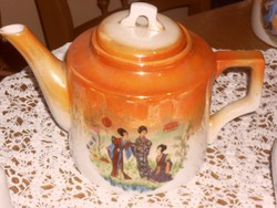 Zsolnay   gésa antik jelenetes teás kanna