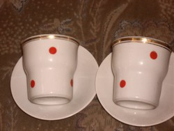 Hollóházi pettyes régi ritka pohár