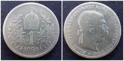 Ferenc József ezüst 1 Korona 1893