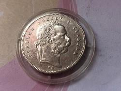 1869 K.B. ezüst 1 Forint 12,3 gr.0,900 ritka,szép darab kapszulában