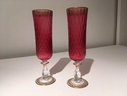 Színes pezsgős pohár