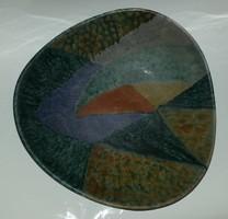 Nagyméretű kerámia fali tál 32 cm
