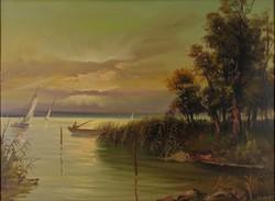 0T847 Kovács S. jelzéssel : Balatoni naplemente