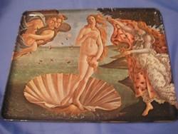 N3 Antik, Vénusz születése jelzett bakelit tálca ritkaság 30 x 24 cm örök szépség, örök érték