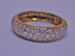 Szépséges arany karika gyűrű 1ct brillel Akció!!