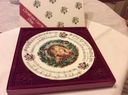 Royal Doulton angol porcelán Christmas Carol Collector plate gyüjtőknek