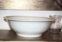 Nagyméretű fehér porcelán mosdótál