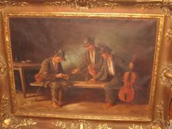 OTT ZOLTÁN / 1881- / : OSZTOZKODÓ ZENÉSZEK
