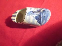 1111  Kézzel festett Delft porcelán papucs 12 cm