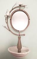 Gyönyörű tükrös ékszertartó, gyűrűtartó állvány