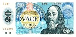 Csehszlovákia 20 korona 1988 UNC