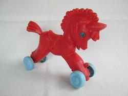 Retró műanyag játék ló