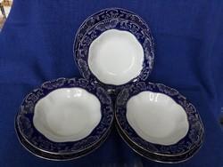 Zsolnay Pompadour lapos + mély tányér 3 db.