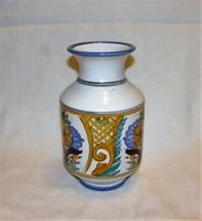 Habán mintás kerámia váza