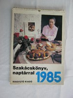 1985-ös fali naptár szakácskönyv