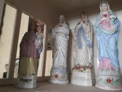 Antik porcelán Mária és jézussal