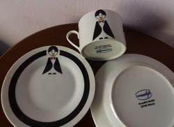 Pingvin mintás-reggeliző szett-gyerekeknek-porcelán