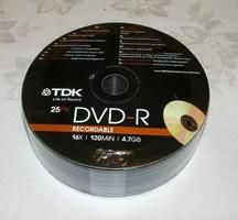 TDK bontatlan írható DVD 25 darab