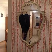 Barok faragott fa tükör 48x80cm