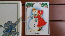 Porcelán képeslap karácsonyra