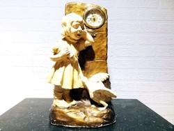 Friedrich Goldscheider (Austrian, 1845–1897) Gyermek órával