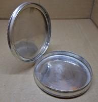 Egyedi szép régi ezüst púderes doboz