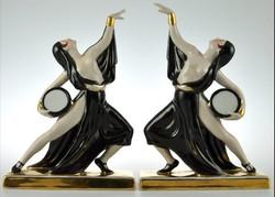 Francia art deco porcelán táncospár 1920