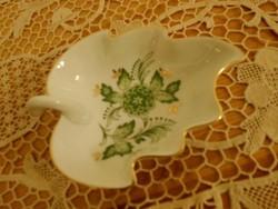 Hollóházi porcelán kínáló/névjegytartó