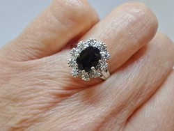 Szépséges antik  brill zafír aranygyűrű