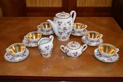 Porcelán teáskészlet -Szabó Zsuzsa szignóval